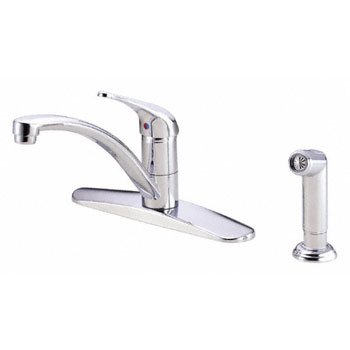 Danze D407112 Melrose Single Handle Kitchen Faucet with Spray - Chrome