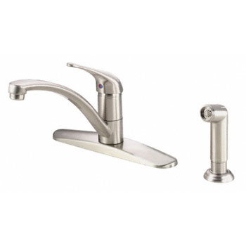 Danze D407112SS Melrose Single Handle Kitchen Faucet with Spray - Stainless Steel