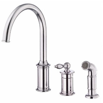 Danze D409010 Prince Single Handle Kitchen Faucet with Spray - Chrome