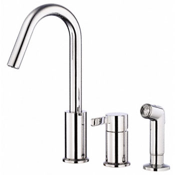 Danze D409030 Amalfi Single Handle Kitchen Faucet with Spray - Chrome