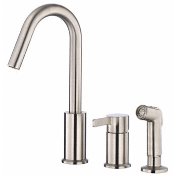 Danze D409030SS Amalfi Single Handle Kitchen Faucet with Spray - Stainless Steel