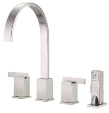 Danze D414344SS Sirius Two Handle Kitchen Faucet - Stainless Steel
