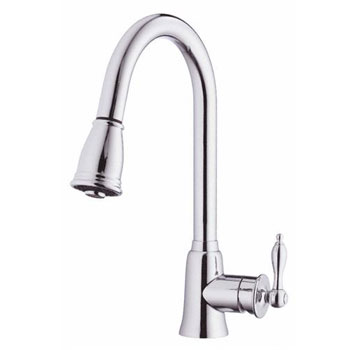 Danze D454510 Prince Single Handle Kitchen Pull-Down Faucet - Chrome