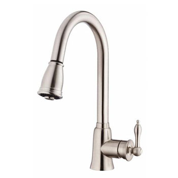 Danze D454510SS Prince Single Handle Kitchen Pull-Down Faucet - Stainless Steel