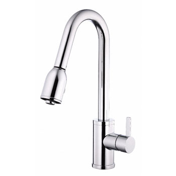 Danze D454530 Amalfi Single Handle Pull-Down Kitchen Faucet - Chrome