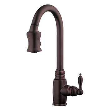Danze D454557RB Opulence Single Handle Pull-Down Kitchen Faucet - Oil Rubbed Bronze