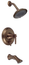 Danze D500045RBD South Sea Single Handle Tub & Shower Faucet with 6'' Showerhead - Distressed Bronze