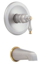 Danze D500655SNPVT Sheridan Tub Trim Kit - Satin Nickel w/ Polished Brass