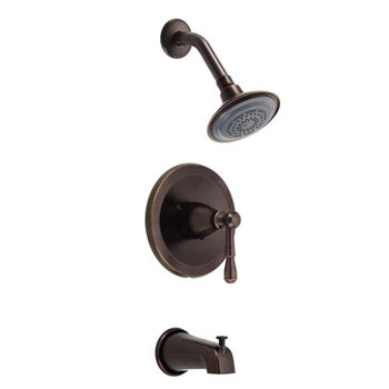 Danze D510015BRT Eastham Single Handle Pressure Balance Tub and Shower Trim - Tumbled Bronze