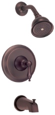 Danze D510040RBT Fairmont Single Handle Tub and Shower Trim Kit - Oil Rubbed Bronze