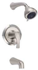 Danze D510046BN Corsair Single Handle Tub & Shower Kit - Brushed Nickel