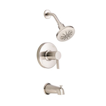 Danze DZD512030BNT Amalfi Single Handle Pressure Balance Tub & Shower Faucet Trim Only - Brushed Nickel