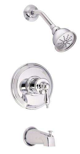 Danze D520010T Prince Single Handle Pressure Balance Shower Trim - Chrome