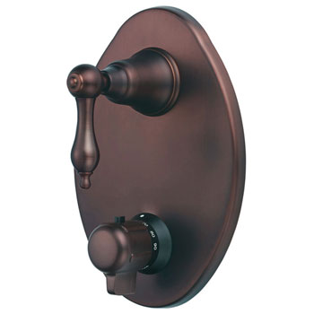 Danze D560140RB Fairmont Two Handle Thermostatic Shower Valve with Trim - Oil Rub Bronze