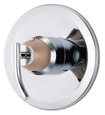 Danze D562054CSNT Sonora Single Handle 3/4'' Thermostatic Shower Valve Trim Kit - Chrome with Satin Nickel Accents