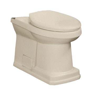 Danze DC023230BC Cirtangular 2 Piece Toilet Bowl Only - Biscuit