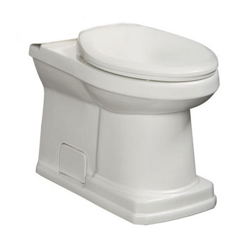 Danze DC023230WH Cirtangular 2 Piece Toilet Bowl Only - White