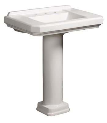 Danze DC028110WH Cirtangular 30 Inch Pedestal Column - White (Pictured w/Basin - Not Included)