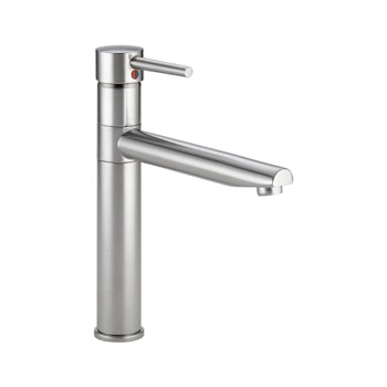 Delta 1159LF-AR Trinsic Single Handle Centerset Kitchen Faucet - Arctic Stainless