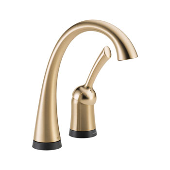Delta 1980T-CZ-DST Pilar Single Handle Bar/ Prep Faucet with Touch2O Technology - Champagne Bronze
