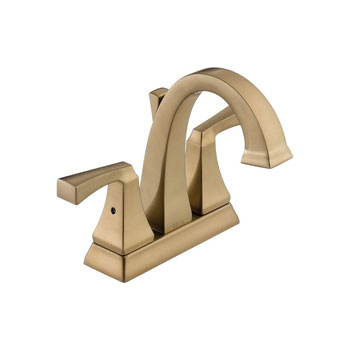 Delta 2551-CZMPU-DST Dryden Two Handle Centerset Lavatory Faucet with Metal Pop Up - Champagne Bronze