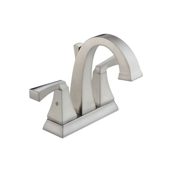 Delta 2551-SSMPU-DST Dryden Two Handle Centerset Lavatory Faucet with Metal Pop Up - Stainless Steel