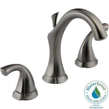 Delta 3592LF-PT Addison Two Handle Widespread Lavatory Faucet - Aged Pewter