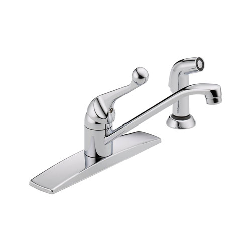 Delta 400LF-WF Single Handle Kitchen Faucet with Spray - Chrome