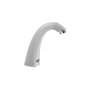 Delta Commercial 590T0158TR Hardwire Operated Deckmount Hi-Rise Spout with Integral Sensor Electronic Faucet Trim - Chrome