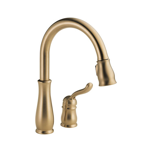 Delta 978-CZWE-DST Leland Single Handle Pull-Down Kitchen Faucet with DIAMOND Seal Technology - Champagne Bronze