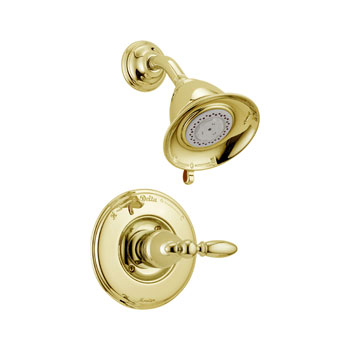Delta T14255-PBLHP Victorian Monitor 14 Series Shower Trim, Less Handle - Polished Brass