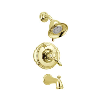 Delta T17455-PB Victorian Monitor 17 Series Tub and Shower Trim - Polished Brass
