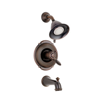 Delta T17455-RB Victorian Monitor 17 Series Tub and Shower Trim - Venetian Bronze