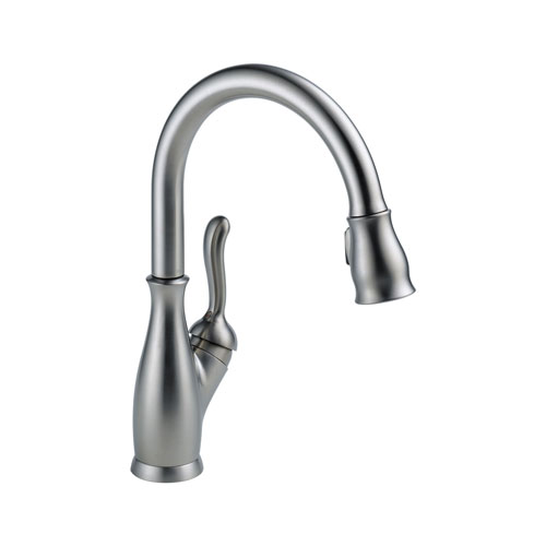 Delta 9178-AR-DST Leland Single Handle Pull-Down Kitchen Faucet - Arctic Stainless