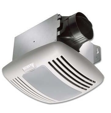 Delta Breez VFB080C4L1 BreezGreenBuilder 80 CFM Exhaust Fan/Light - White