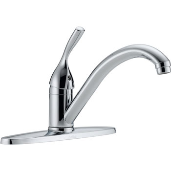 Delta 100-DST Classic Single Handle Kitchen Faucet with Diamond(TM) Seal Technology Chrome