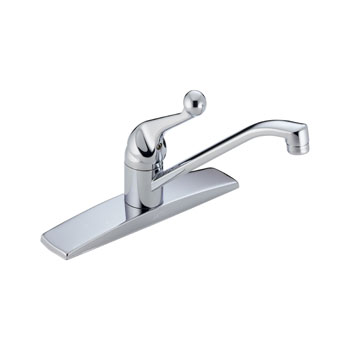 Delta 100LF-WF Classic Single Handle Kitchen Faucet - Chrome