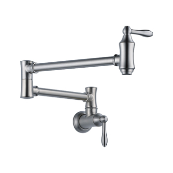 Delta 1177LF-AR Traditional Wall Mount Pot Filler Faucet - Arctic Stainless