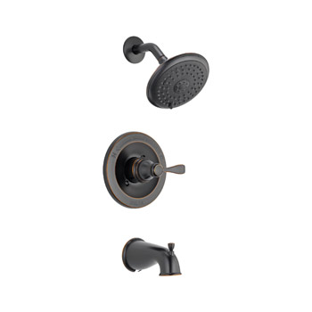Delta 144984-OB-A Porter Monitor 14 Series Tub and Shower Trim - Oil Rubbed Bronze