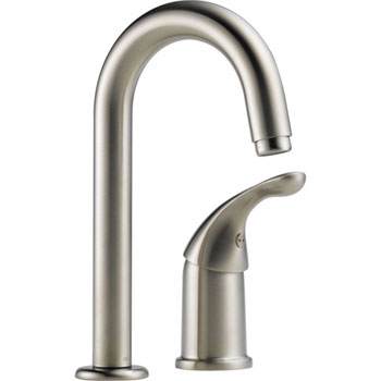 Delta 1903-SS-DST Classic Single Handle Bar/Prep Faucet with DIAMOND(TM) Seal Technology Brilliance Stainless
