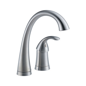 Delta 1980-AR-DST Pilar Single Handle Bar/Prep Faucet - Arctic Stainless