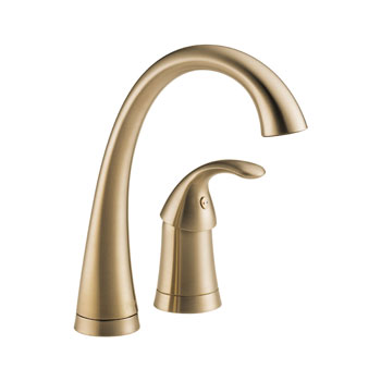 Delta 1980-CZ-DST Pilar Waterfall Single Handle Bar/Prep Faucet with DIAMOND(TM) Seal Technology - Champagne Bronze