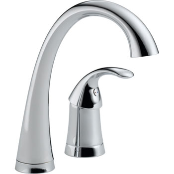 Delta 1980-DST Pilar Waterfall Single Handle Bar/Prep Faucet with DIAMOND(TM) Seal Technology Chrome