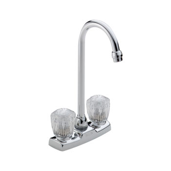 Delta 2170LF Classic Two Handle Knob Bar/Prep Faucet - Chrome