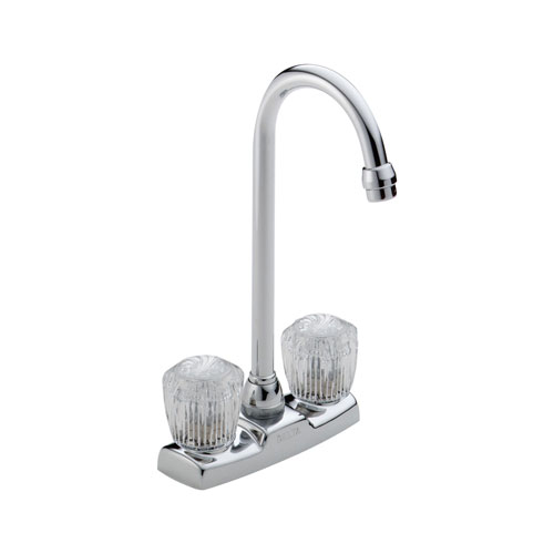 Delta 2178LF Classic Two Handle Knob Bar/Prep Faucet - Chrome