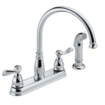 Delta 21996LF Windemere Two Handle Kitchen Faucet - Chrome