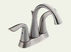 Delta 2538-SS Lahara Two Handle Centerset Lavatory Faucet Brilliance Stainless