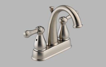 Delta 2575-SS Leland J-Spout Centerset Lavatory Faucet - Brilliance Stainless