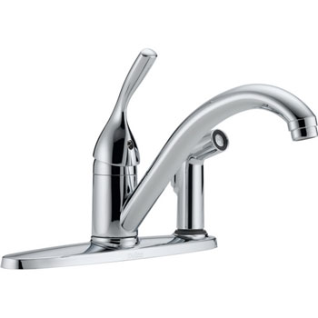 Delta 300-DST Classic Single Handle Kitchen Faucet with Sidespray and Diamond(TM) Seal Technology Chrome
