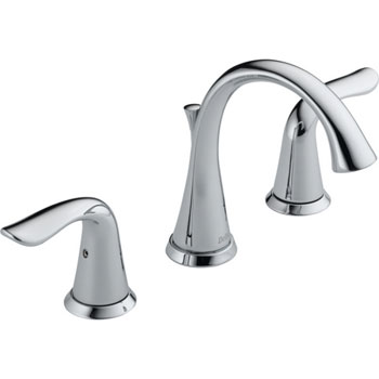 Delta 3538LF Lahara Two Handle Widespread Lavatory Faucet - Chrome